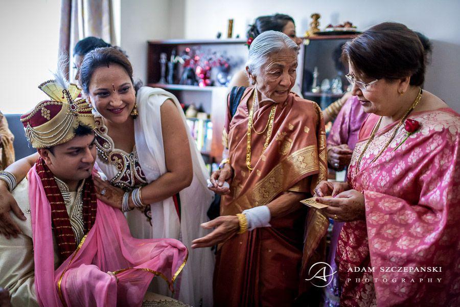 Asian Wedding Photographer groom karan and women before wedding