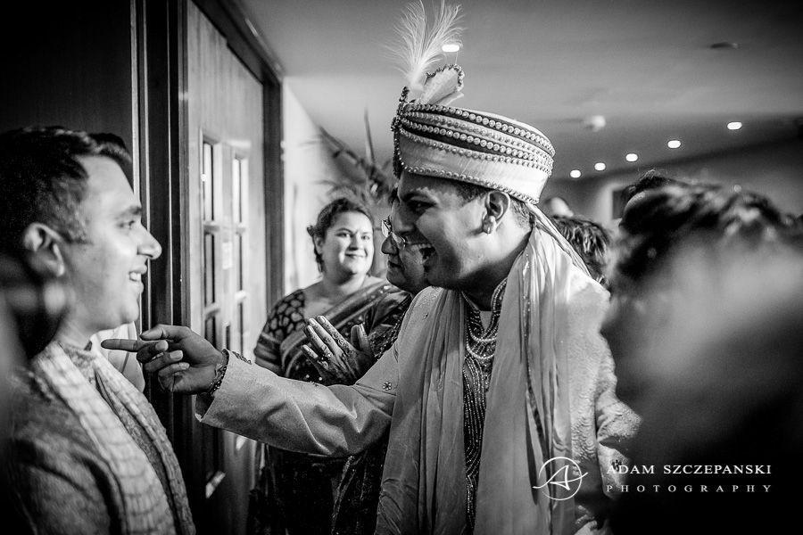 Asian Wedding Photographer groom karan and the guest