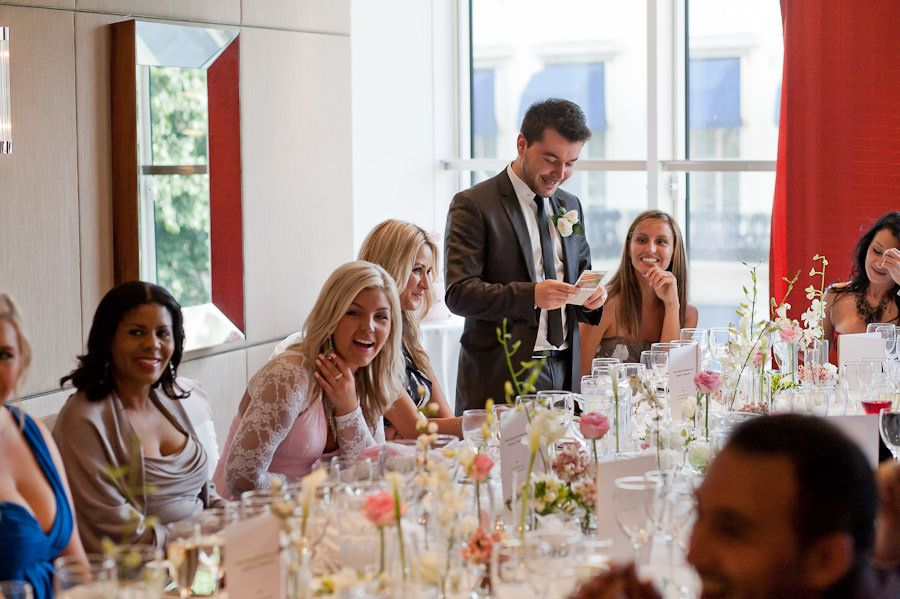 wedding speech and bridesmaids