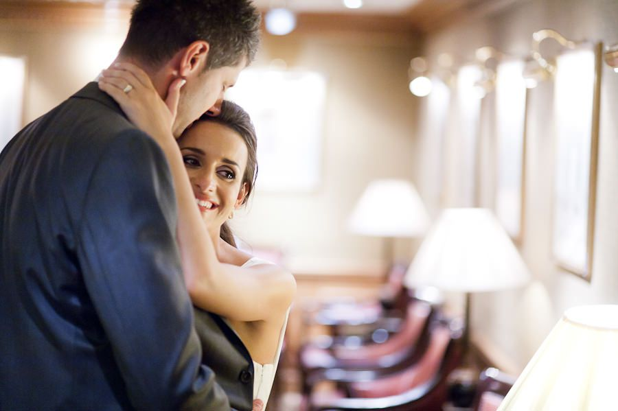 wedding portrait in documentary style