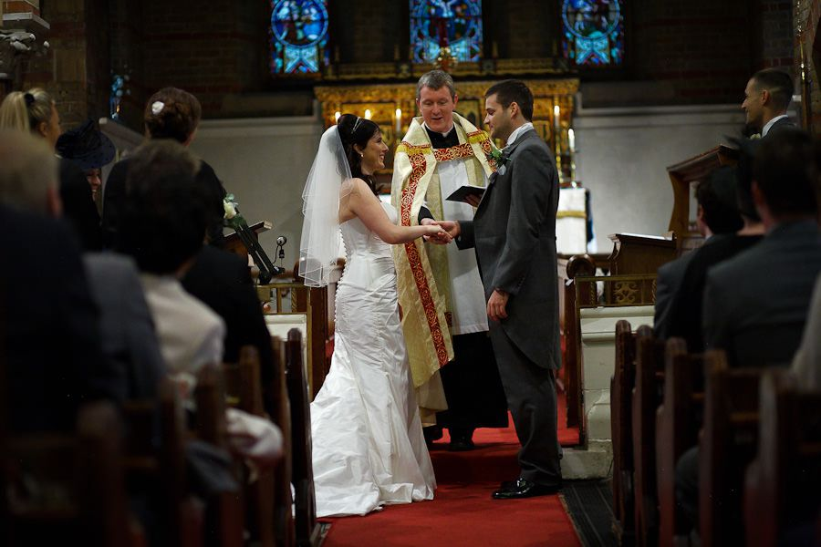 photo of the wedding ceremony of hannah and oliver