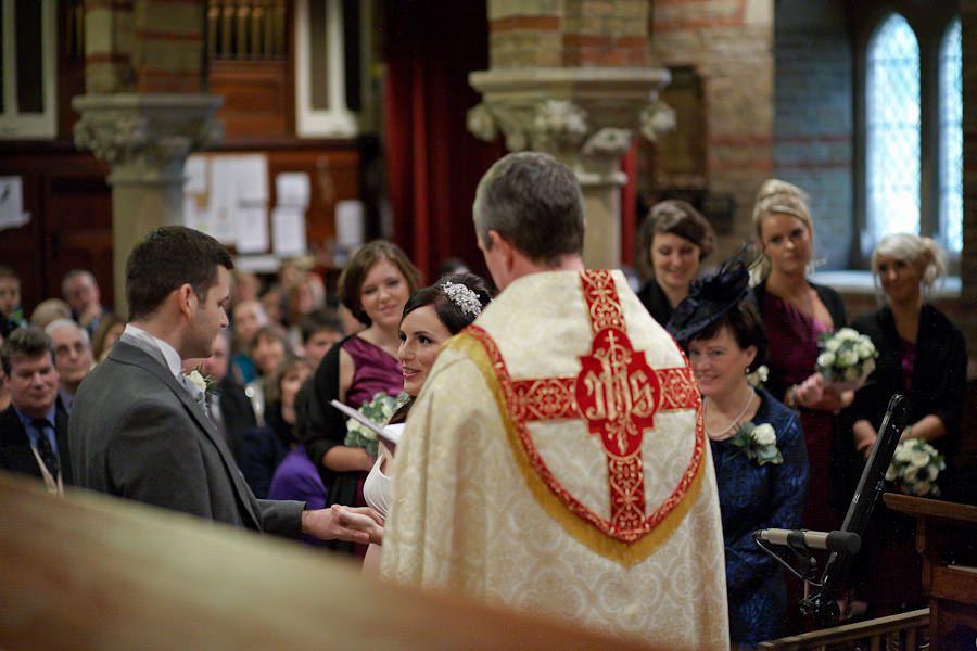 weddding oaths in the church in teddington