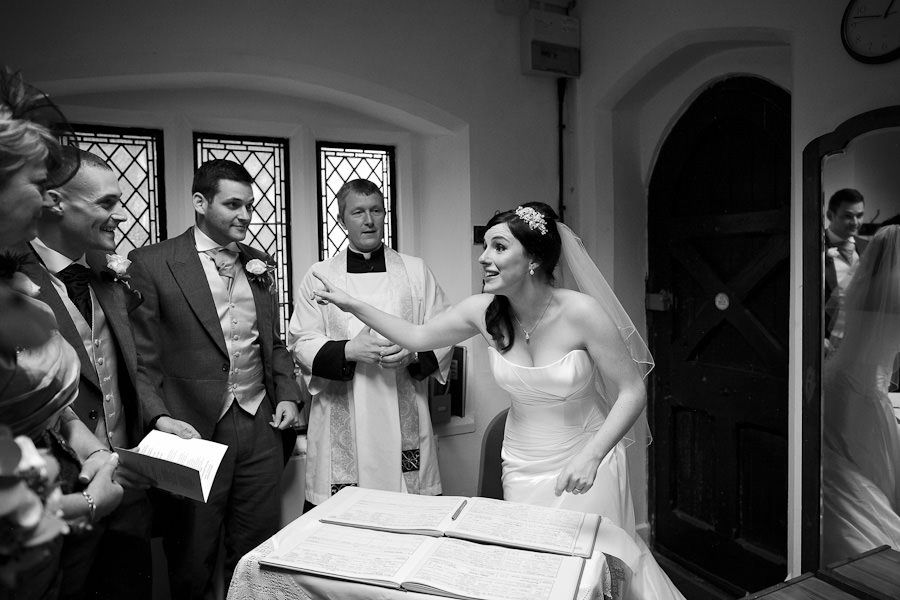 bride hannah in the church