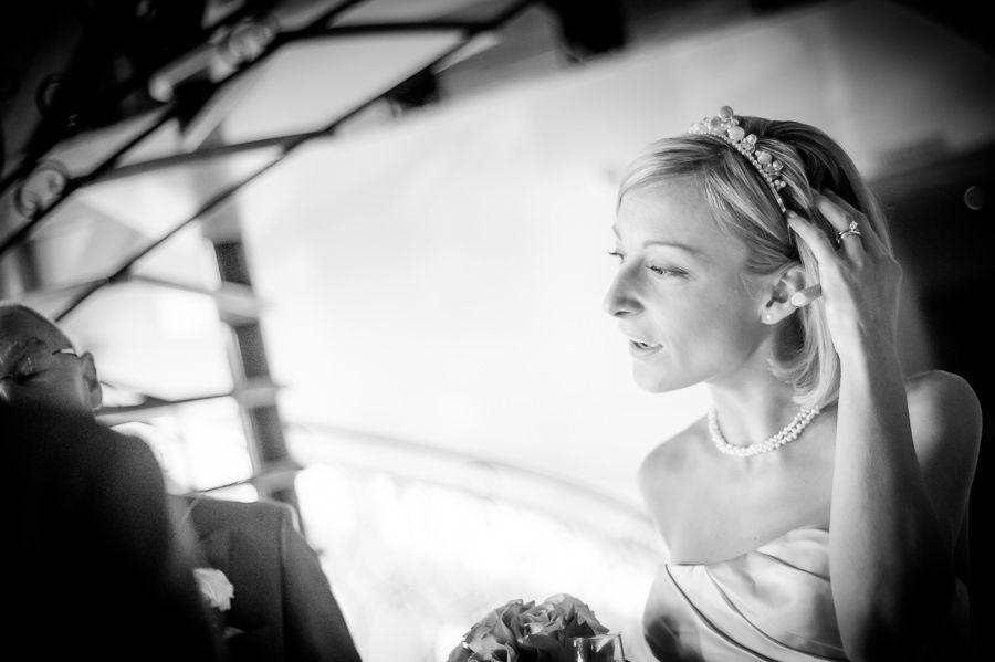 black and phite picture of the bride nicole