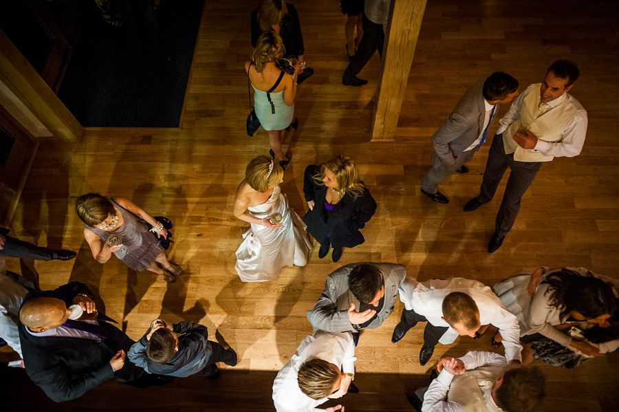 top view for a wedding party