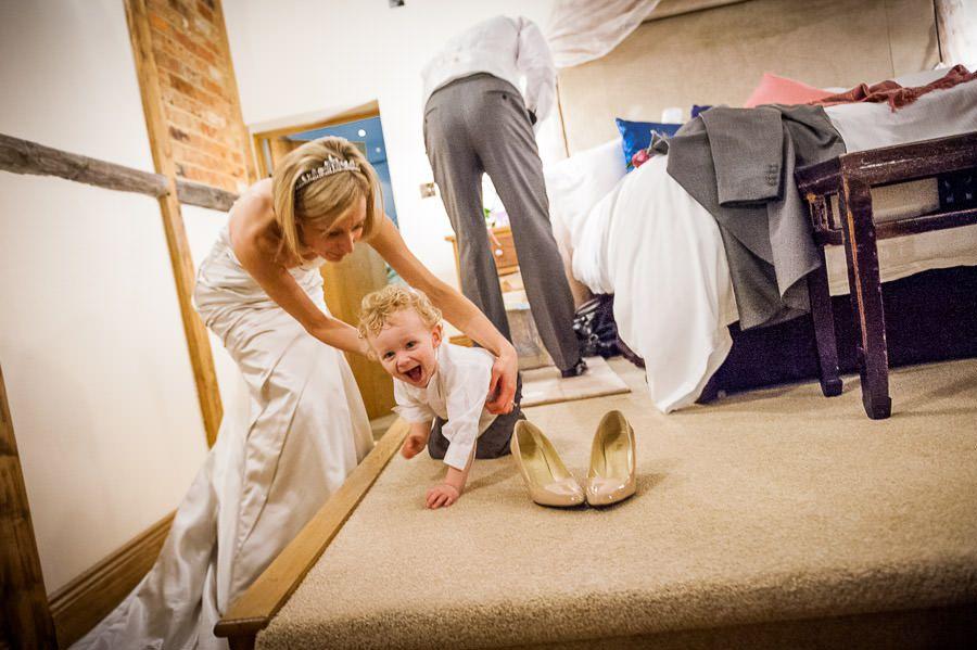 bride Nicole with the baby