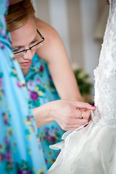 last fixes of the trishes wedding dress