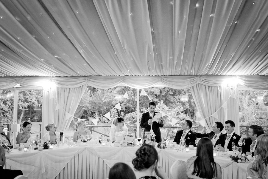 wedding speeches at the beginning of the party