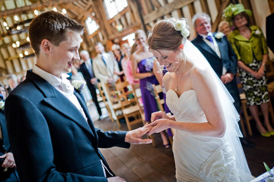 weddding oath in the church in surrey