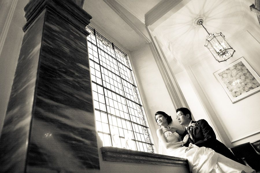 annie and chang the london wedding photography in landmark hotel