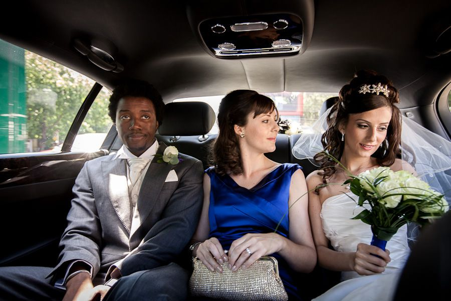 cey and hassan in the car before wedding ceremony