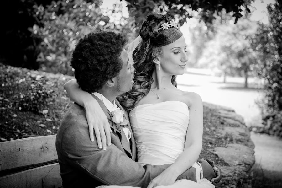 wedding photo in london park