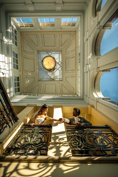 young couple in mandarin oriental hotel london