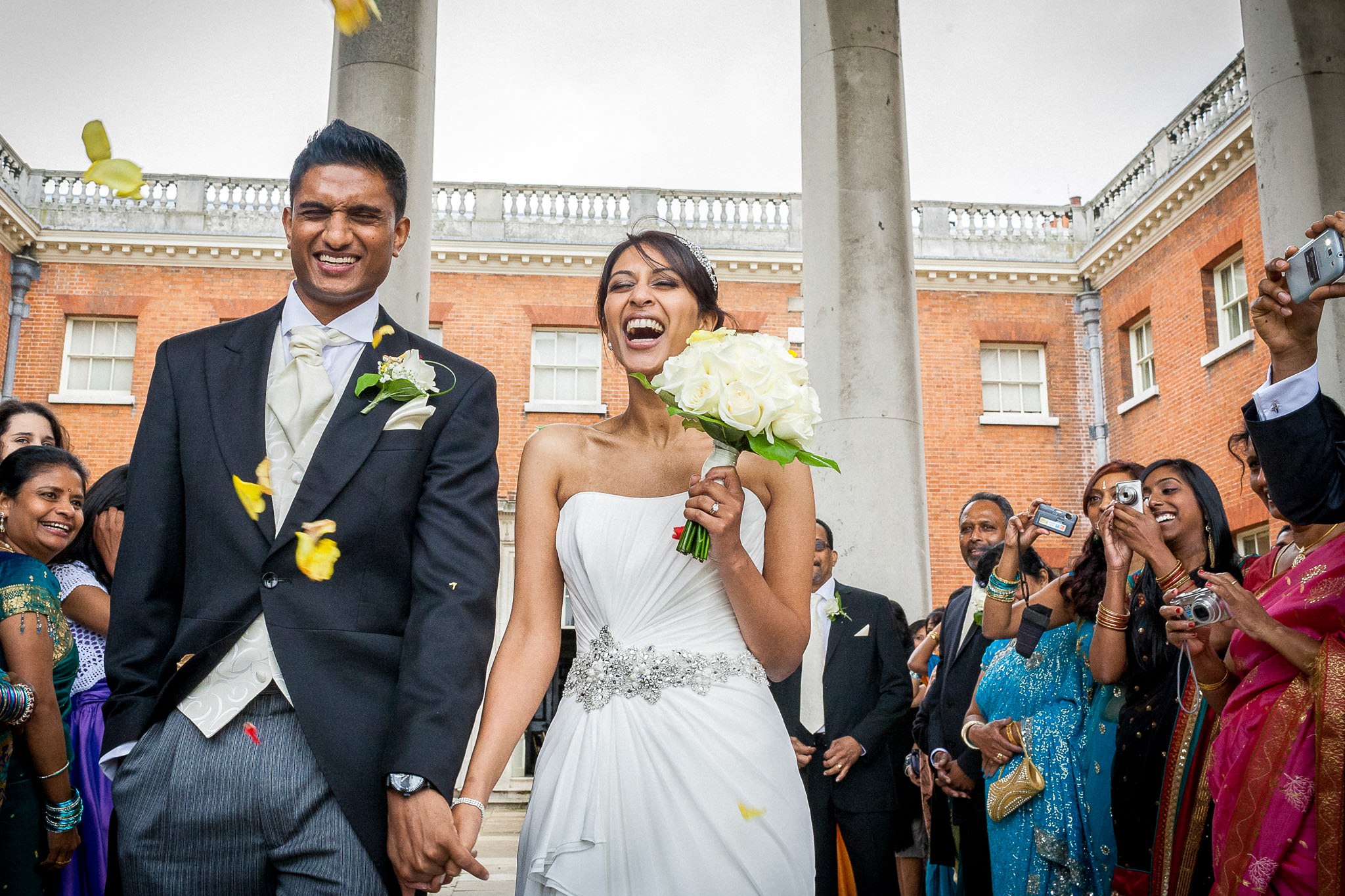 Osterley Park House Wedding Photographer confetti shot