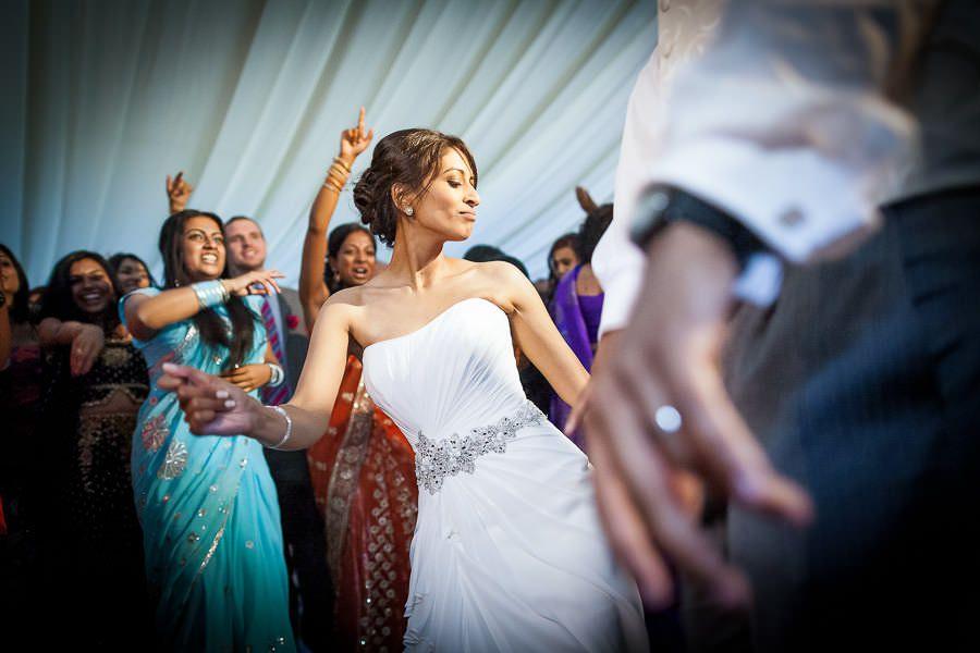 bride sindu on the dancefloor