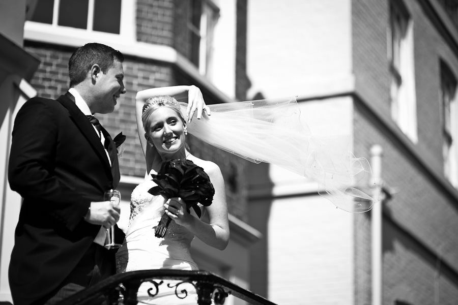 black and white wedding photo session in berkshire