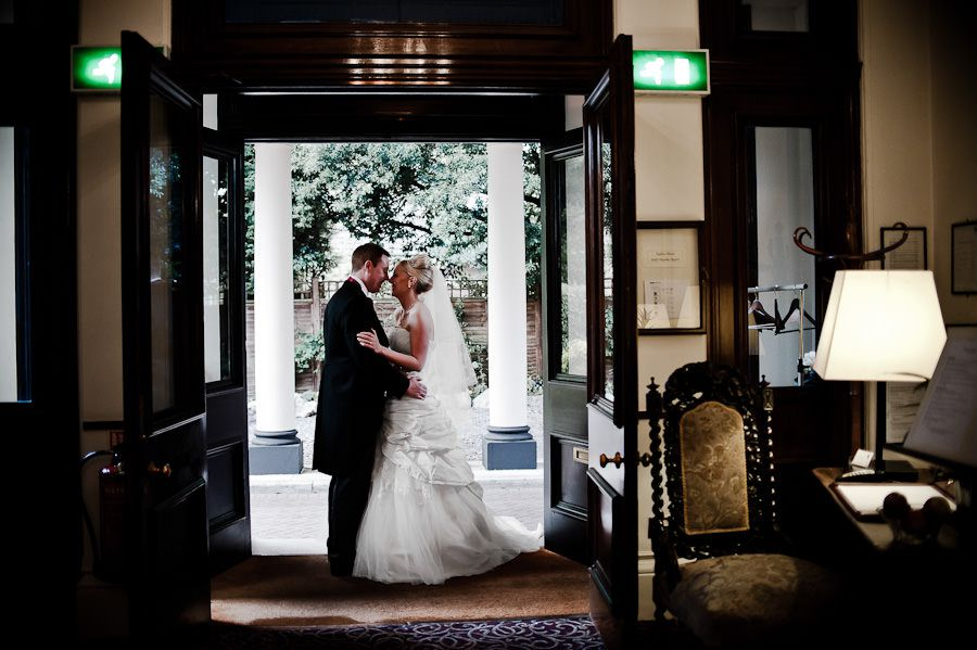 Emma and Matt wedding photo session in historical building in berkshire