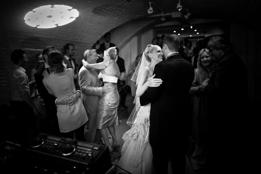 black and white photography of the married couple first dance