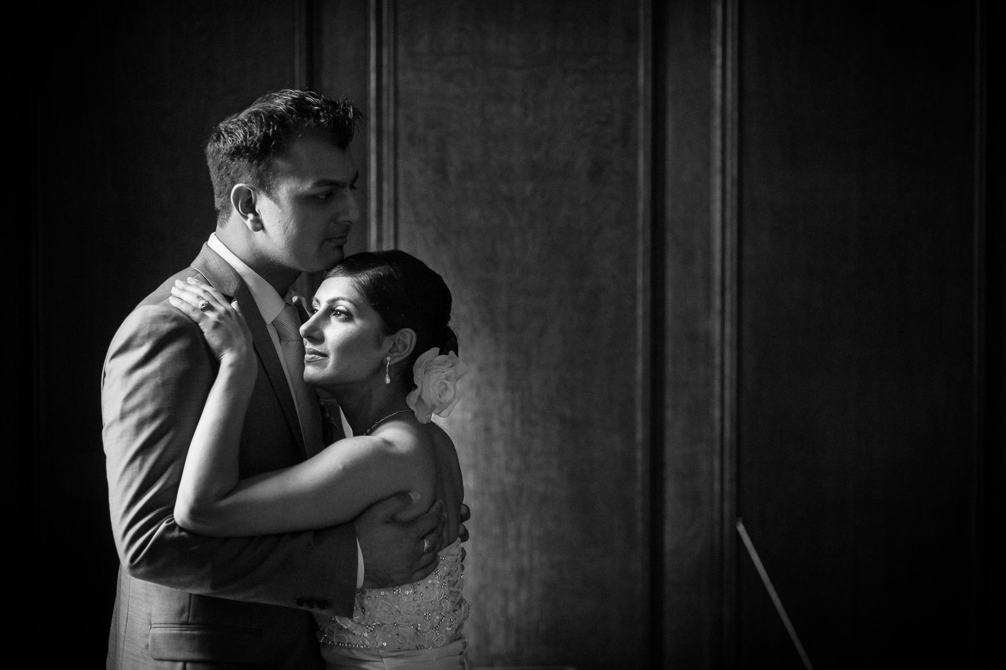 Wandsworth Town Hall Wedding Photographer married couple hugging