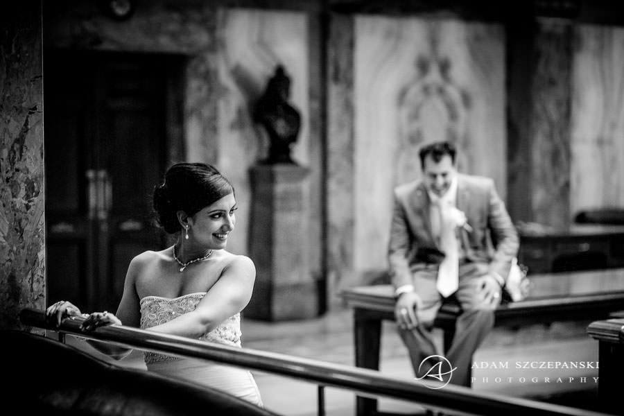 wedding photo session in Wandsworth Town Hall in london