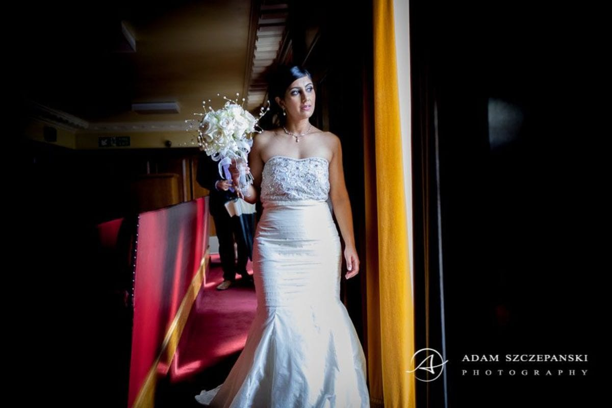Wandsworth Town Hall Wedding Photographer bride nima in her wedding dress