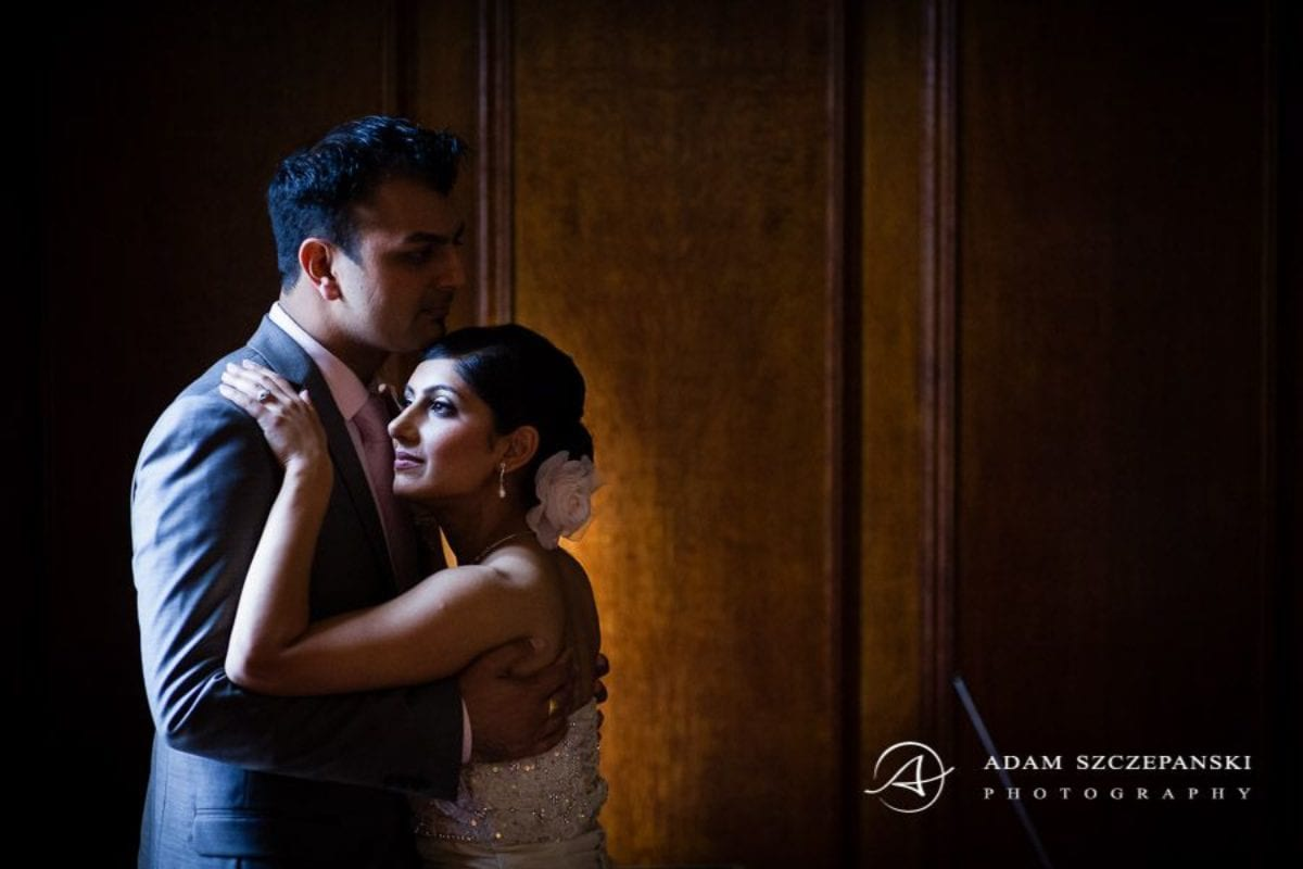 Wandsworth Town Hall Wedding Photographer hugged married couple
