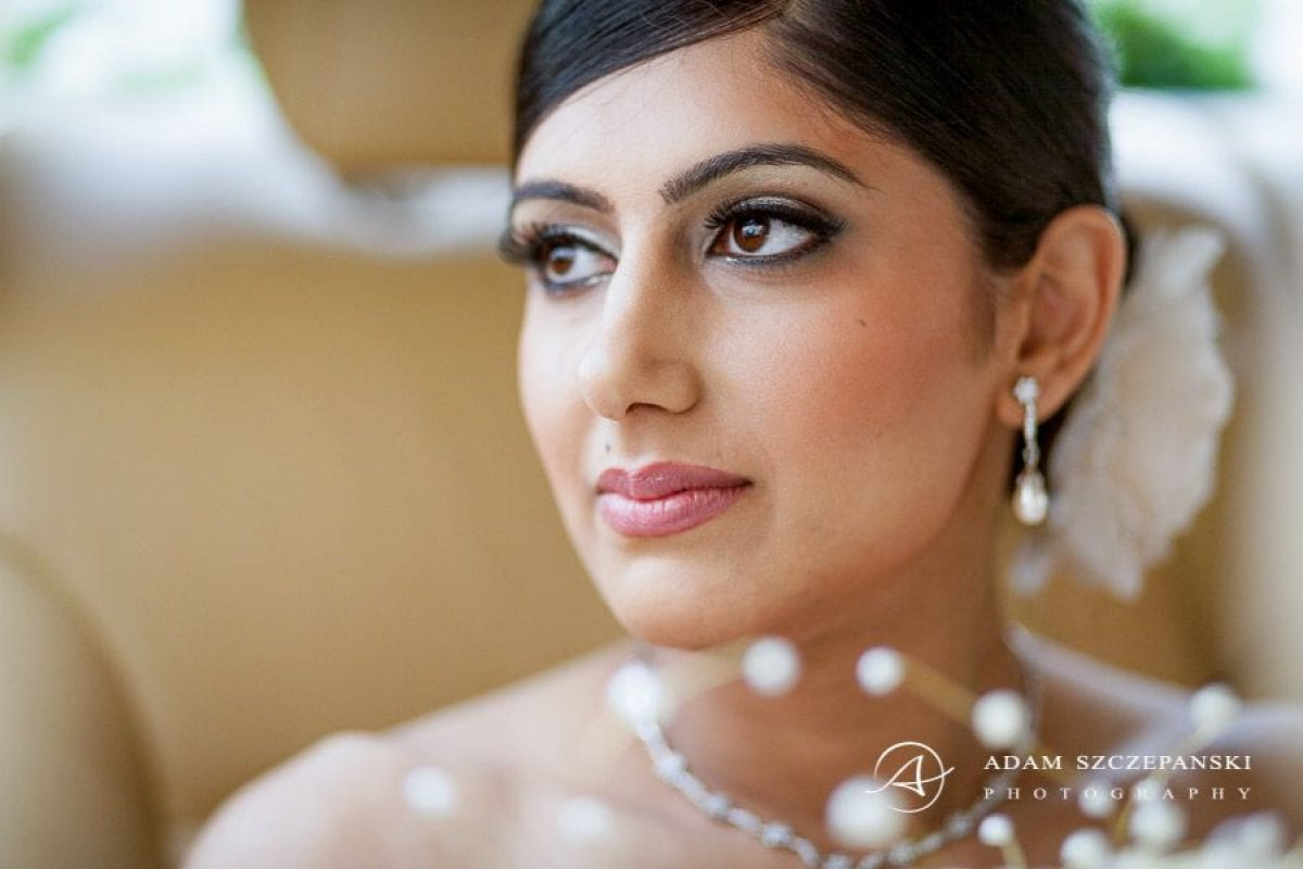 Wandsworth Town Hall Wedding Photographer portrait of bride nima