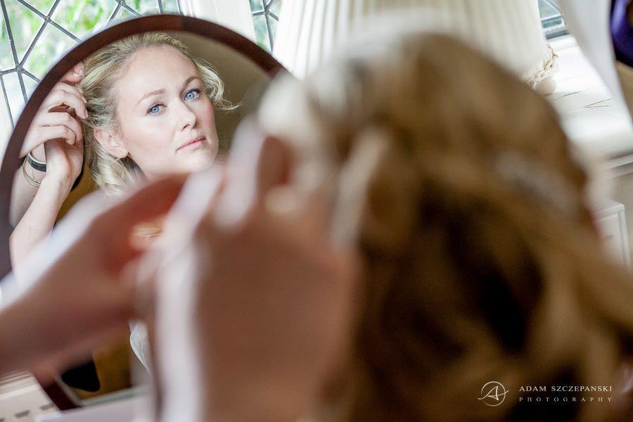 bride carolines wedding preparations