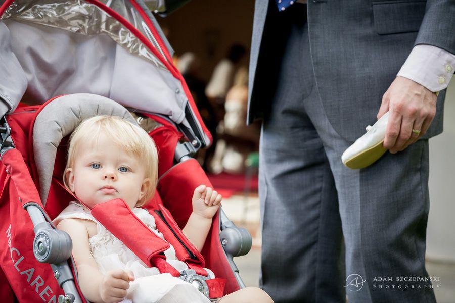 little child on the wedding