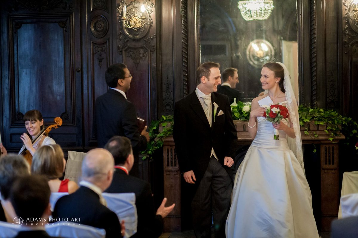 married couple at their own wedding ceremony in london