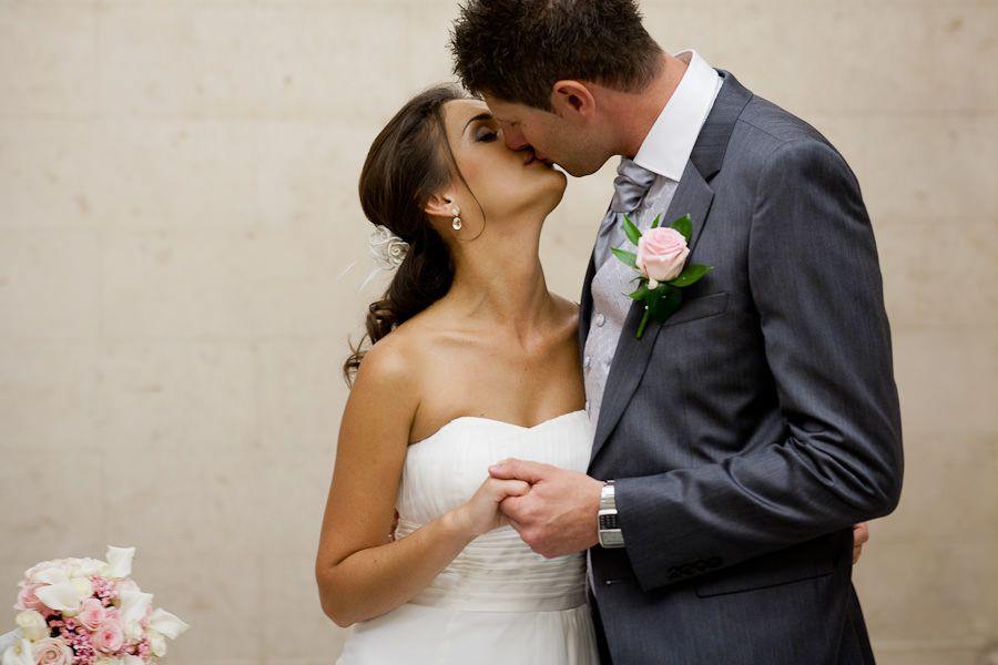 married couple kiss