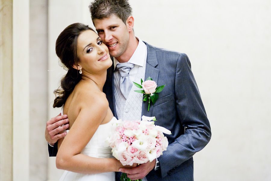 married couple posing to the wedding photography