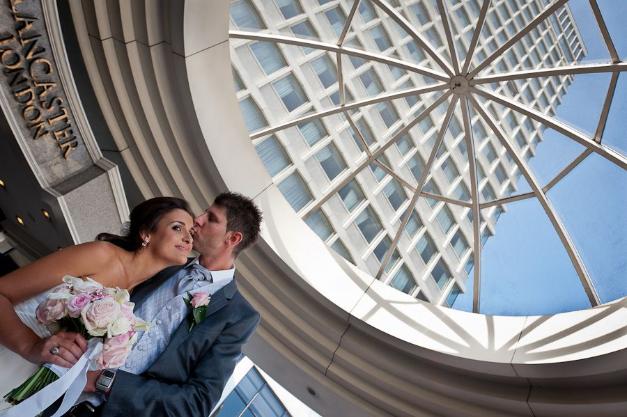 married couple and the roof of the london hotel