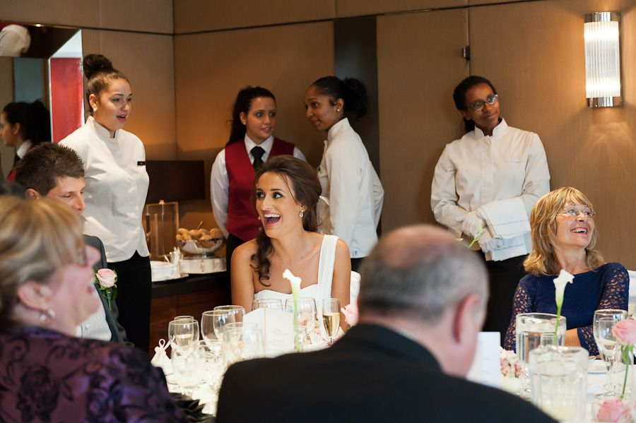 bride nadia laughing