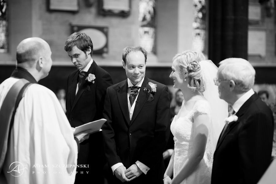 lynnane and james at their wedding ceremony in the london church
