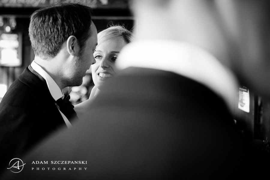black and white wedding photography by adam szczepanski