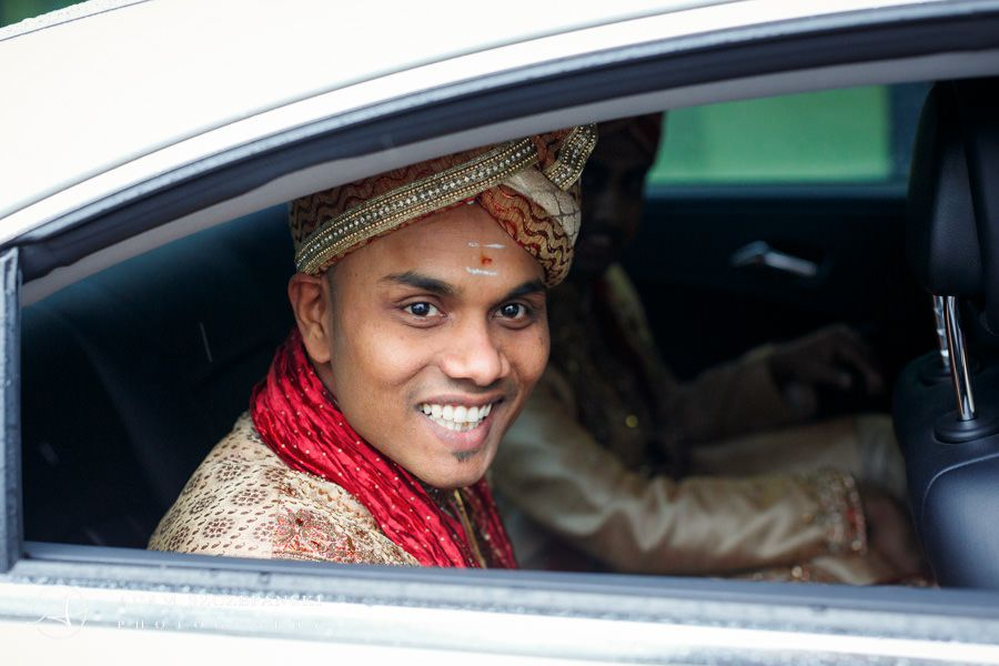 men in the car wearing traditionally dressed