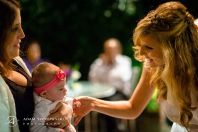 bride mika with the little baby