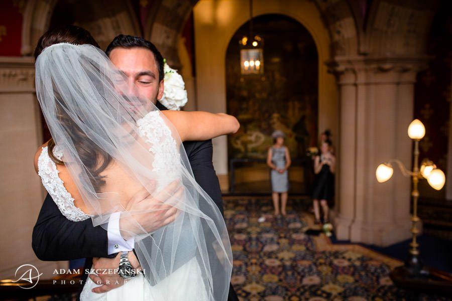 happy bride at her wedding day
