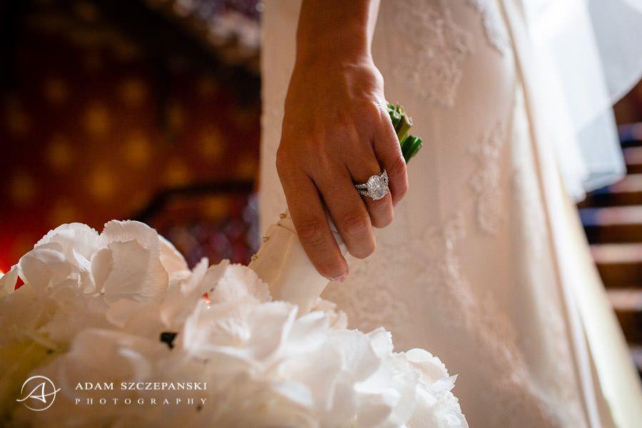 closeup on the bride ann hand