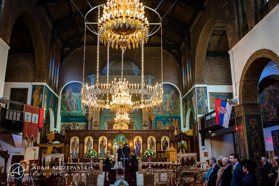 wedding ceremony of ann and nimanja in london church