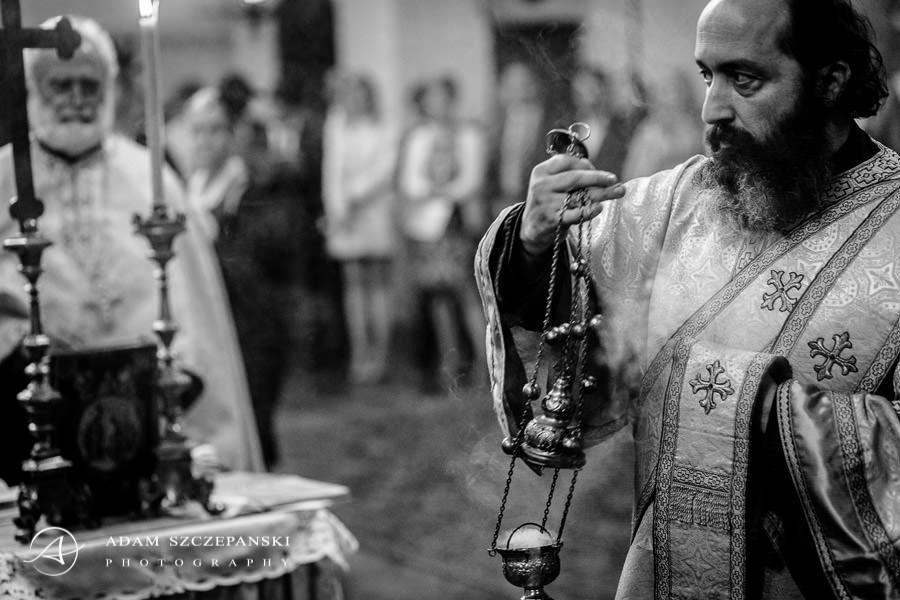 priest at the wedding ceremony