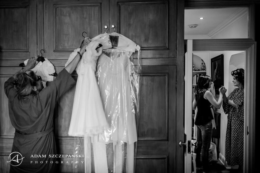 dresses prepared for the wedding day