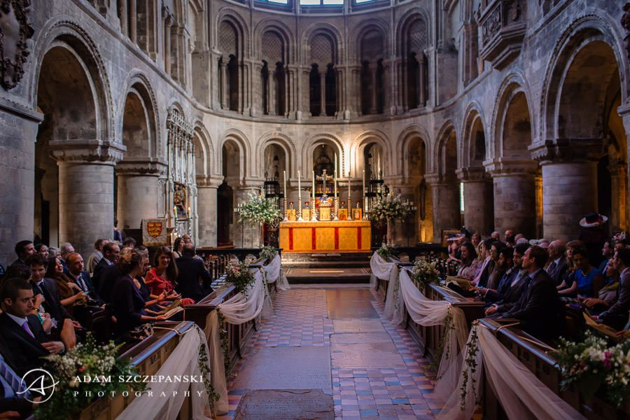 wedding ceremony in london church