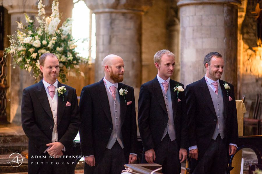 groomsmen during the ceremony