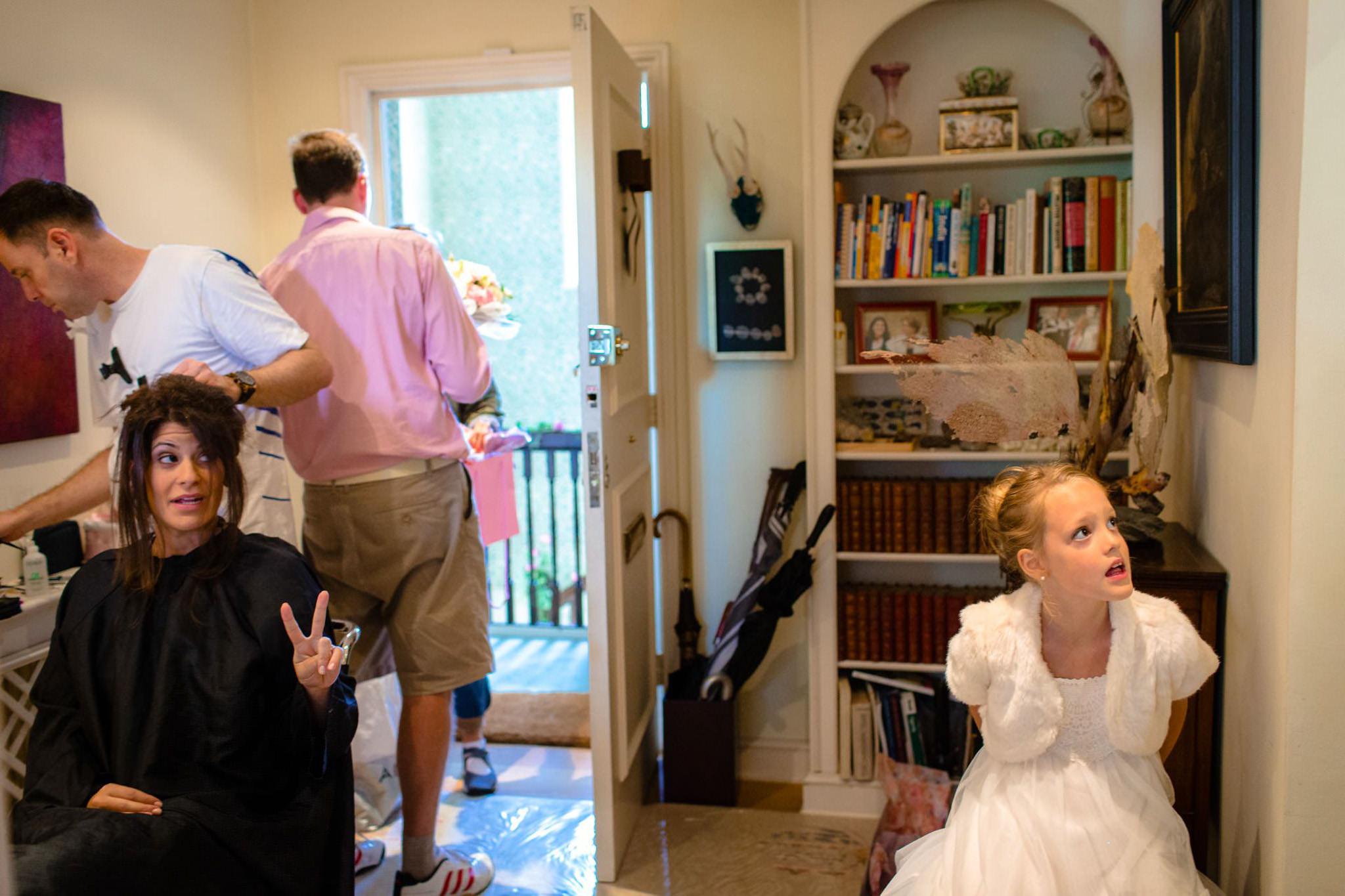 St. Pancras Renaissance hotel wedding bride final touches