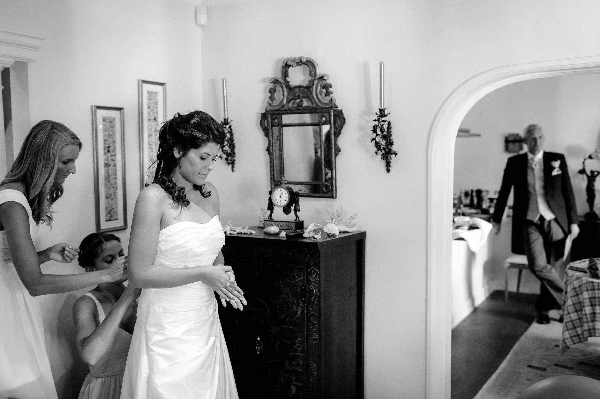 St. Pancras Renaissance hotel wedding bride in the dress