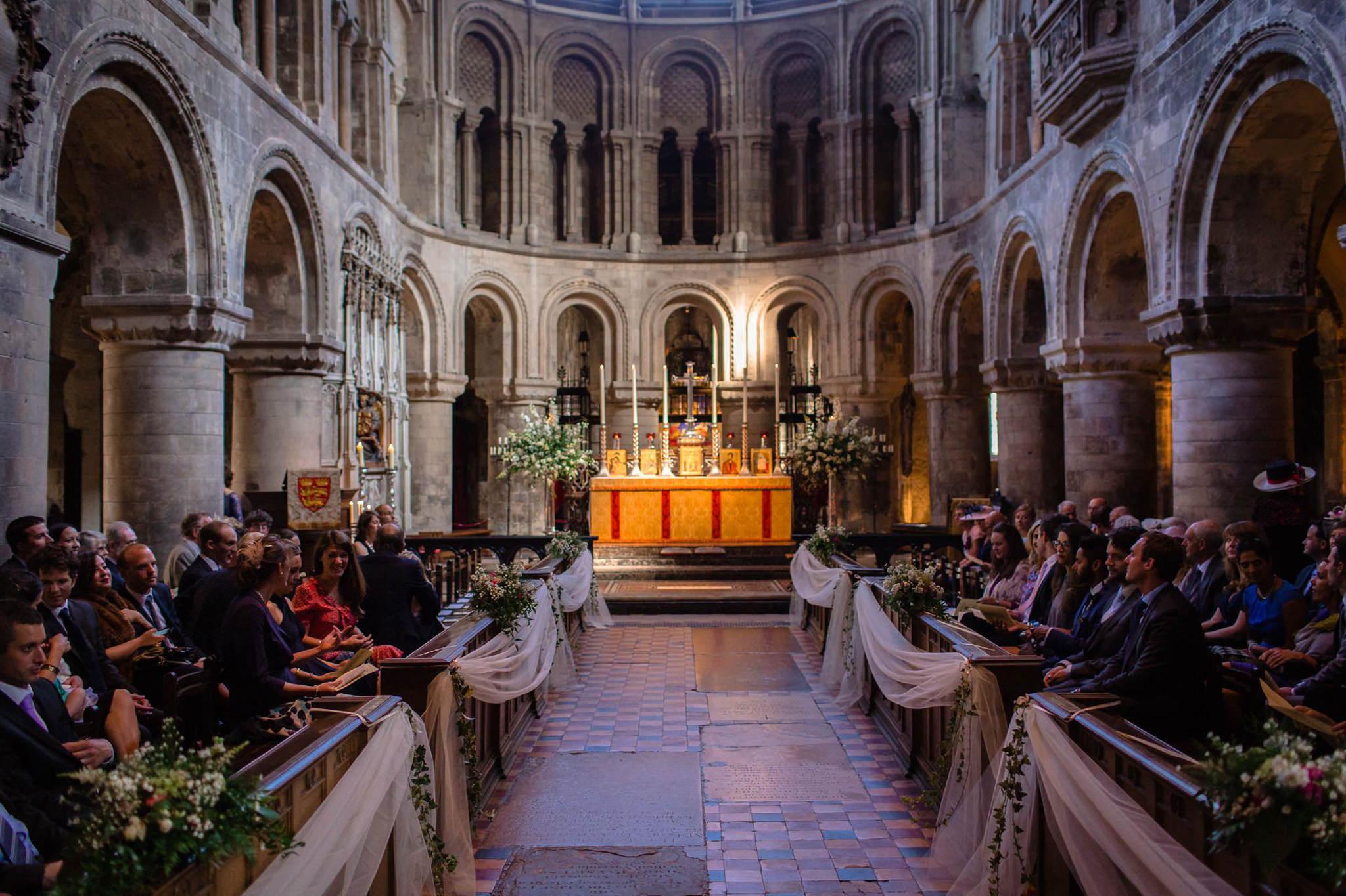 St. Pancras Renaissance hotel wedding church view