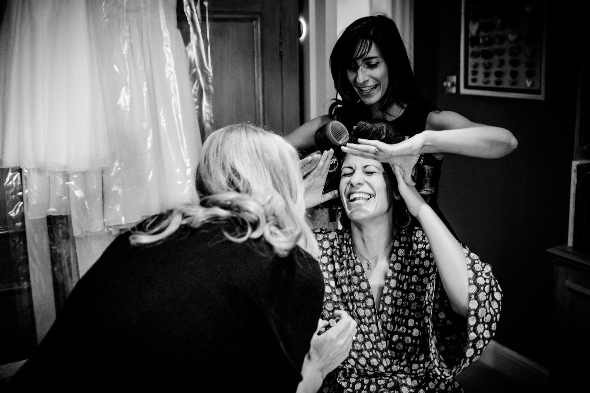 St. Pancras Renaissance hotel wedding bride getting ready