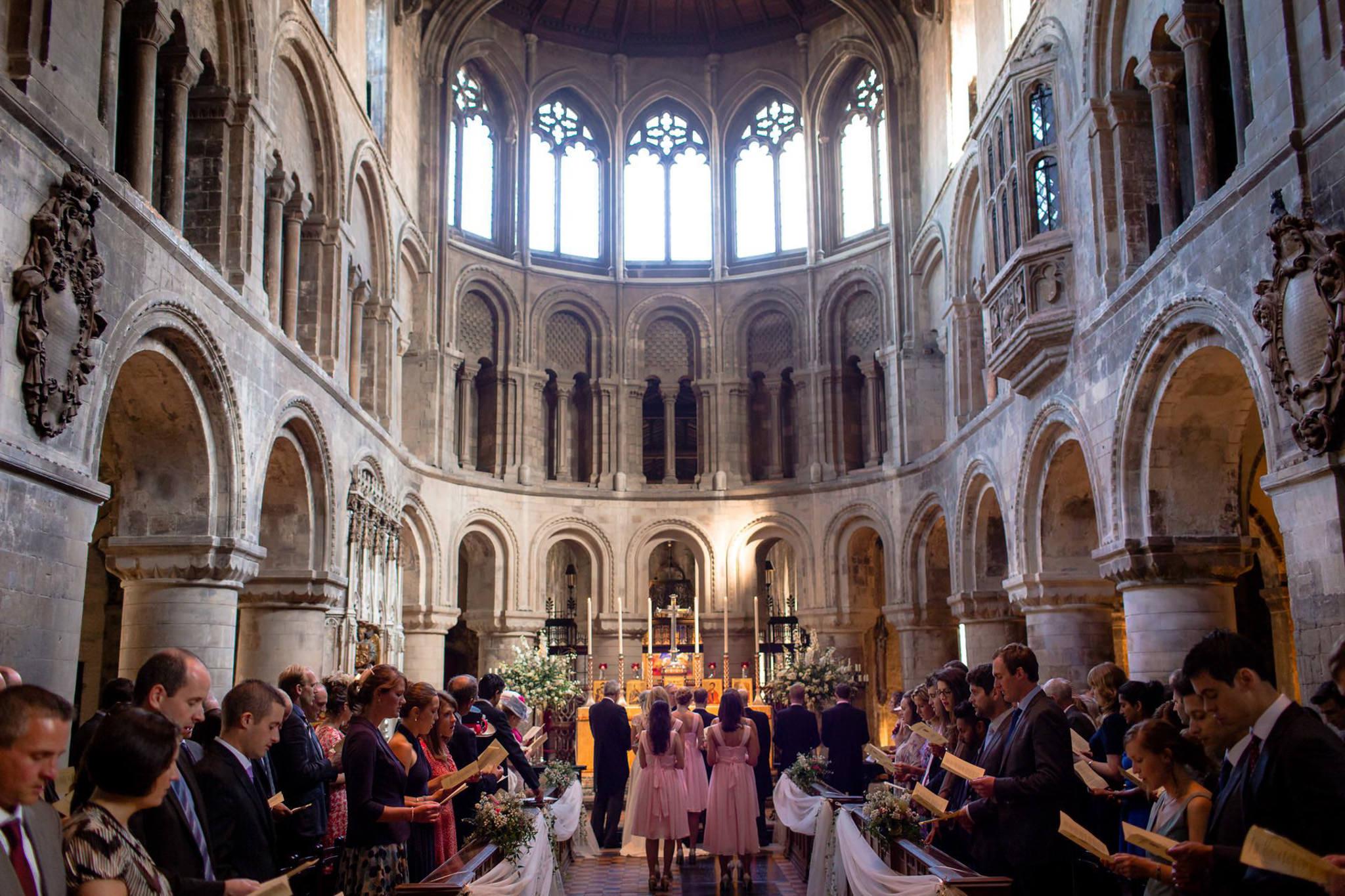 St. Pancras Renaissance hotel wedding view of the church inside